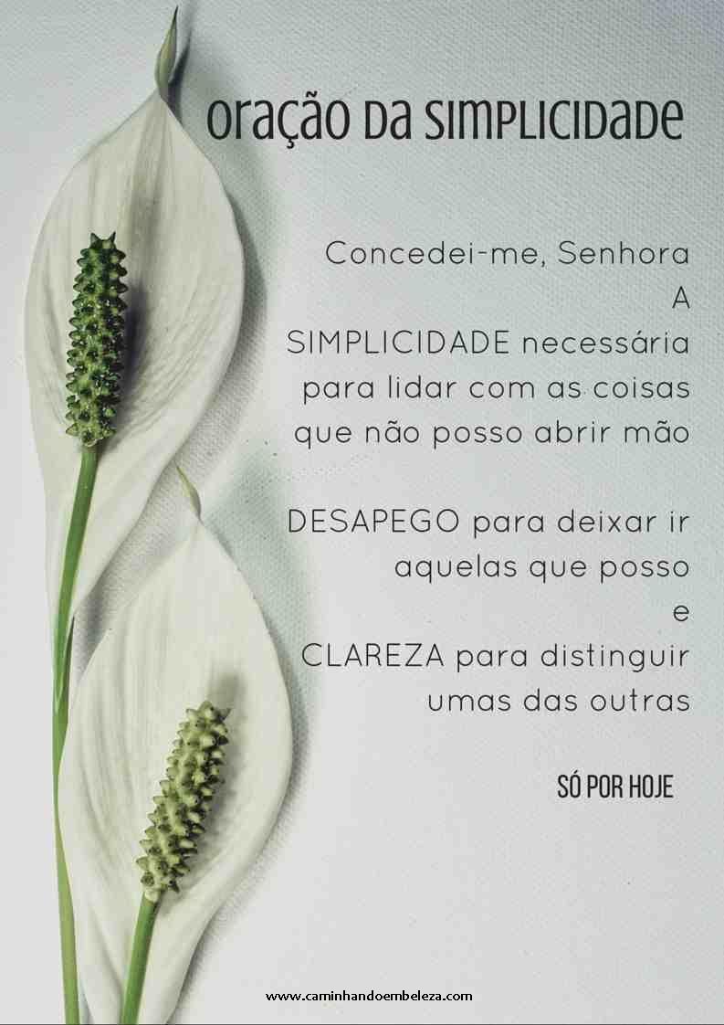 Oração da Simplicidade - lírio1RED